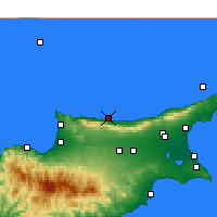 Nearby Forecast Locations - Kyrenia - Map