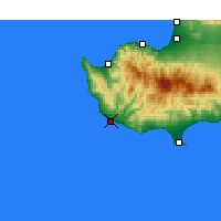 Nearby Forecast Locations - Paphos - Map