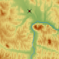 Nearby Forecast Locations - Taskan-In-Magadan - Map