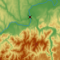 Nearby Forecast Locations - Chagda - Map