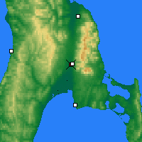 Nearby Forecast Locations - Yuzhno-Sakhalinsk - Map