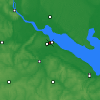 Nearby Forecast Locations - Cherkasy - Map