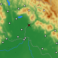 Nearby Forecast Locations - Uzhhorod - Map