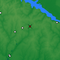 Nearby Forecast Locations - Komissarovka - Map