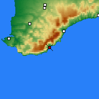 Nearby Forecast Locations - Yalta - Map