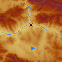 Nearby Forecast Locations - Kyzyl - Map