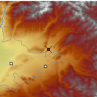 Nearby Forecast Locations - Jalal-Abad - Map