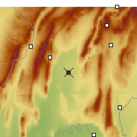 Nearby Forecast Locations - Qurghonteppa - Map