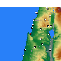 Nearby Forecast Locations - Haifa - Map
