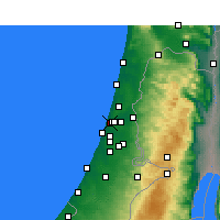 Nearby Forecast Locations - Tel Aviv - Map