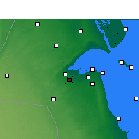 Nearby Forecast Locations - Sulaibiya - Map