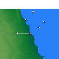 Nearby Forecast Locations - Nuwasib - Map