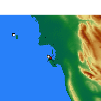 Nearby Forecast Locations - Bushehr - Map