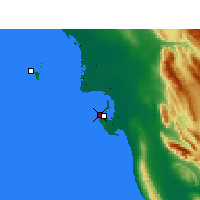Nearby Forecast Locations - Bushire Airport - Map