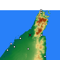 Nearby Forecast Locations - Ras al-Khaimah - Map