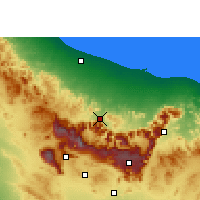 Nearby Forecast Locations - Rustaq - Map