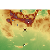 Nearby Forecast Locations - Nizwa - Map