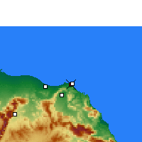 Nearby Forecast Locations - Port Sultan Qaboos - Map