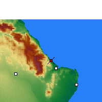 Nearby Forecast Locations - Qalhat - Map