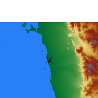 Nearby Forecast Locations - Al Hudaydah - Map
