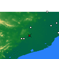 Nearby Forecast Locations - Bhubaneswar - Map