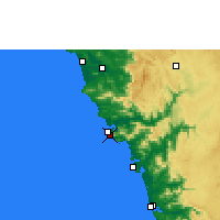 Nearby Forecast Locations - Karwar - Map