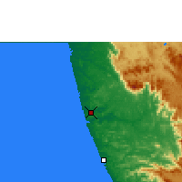 Nearby Forecast Locations - Mangalore - Map