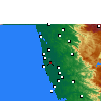 Nearby Forecast Locations - Alappuzha - Map