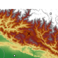Nearby Forecast Locations - Kathmandu - Map