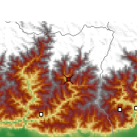 Nearby Forecast Locations - Taplejung - Map