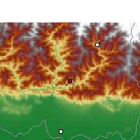 Nearby Forecast Locations - Dhankuta - Map