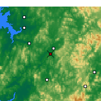 Nearby Forecast Locations - Cheongju - Map