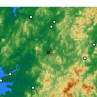 Nearby Forecast Locations - Daejeon - Map