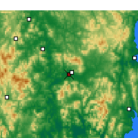 Nearby Forecast Locations - Daegu - Map