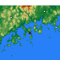 Nearby Forecast Locations - Yeosu - Map