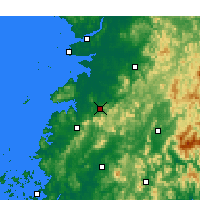 Nearby Forecast Locations - Jeongeup - Map