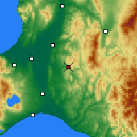 Nearby Forecast Locations - Yūbari - Map
