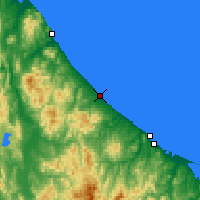 Nearby Forecast Locations - Ōmu - Map