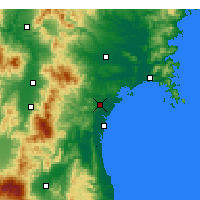 Nearby Forecast Locations - Sendai - Map