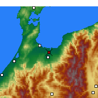 Nearby Forecast Locations - Toyama - Map