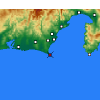 Nearby Forecast Locations - Omaezaki - Map