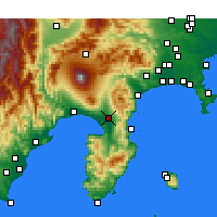 Nearby Forecast Locations - Mishima - Map