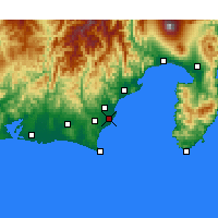 Nearby Forecast Locations - Yaizu - Map