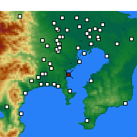 Nearby Forecast Locations - Yokohama - Map