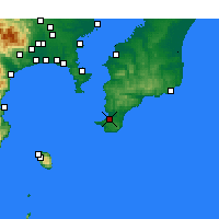 Nearby Forecast Locations - Tateyama - Map