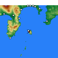 Nearby Forecast Locations - Oshima - Map