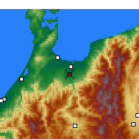 Nearby Forecast Locations - Toyama Airport - Map