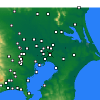 Nearby Forecast Locations - Shimofusa - Map