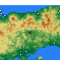 Nearby Forecast Locations - Tsuyama - Map