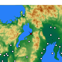 Nearby Forecast Locations - Hikone - Map